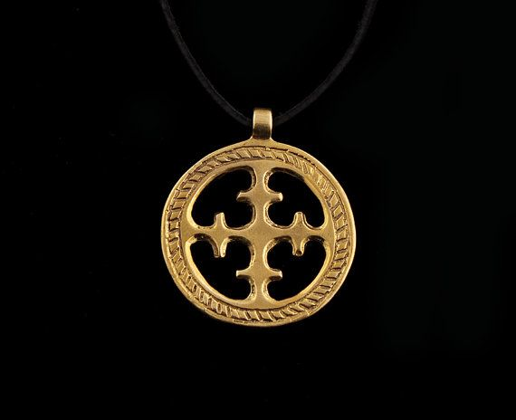 Viking Sun Cross Pendant by RareCrafts on Etsy, $13.00