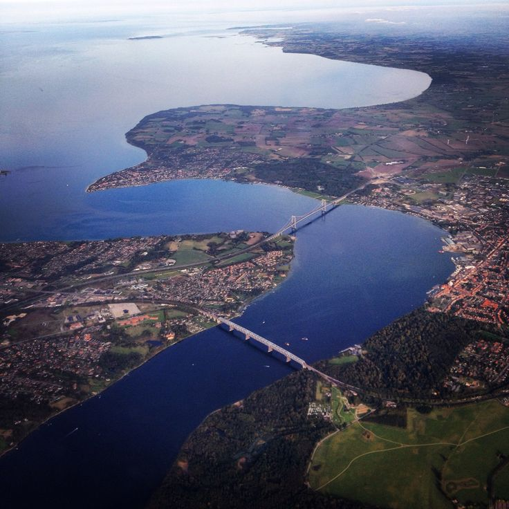 Airview of Lillebælt in Denmark!