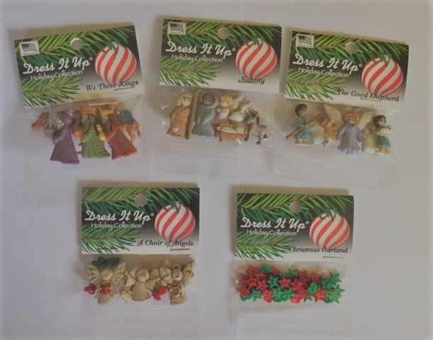 Nativity Button Bundle 5 packets of buttons $30 (inc postage)