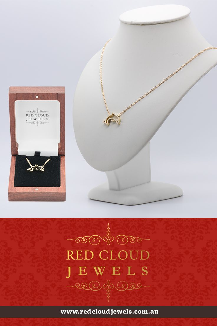 A dolphin pendant with necklace (18ct yellow gold) | Outstanding Jewellery for Outstanding Individuals | www.redcloudjewels.com.au