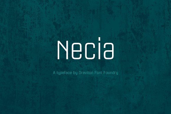 Necia Font Family by Graviton Font Foundry on @creativemarket