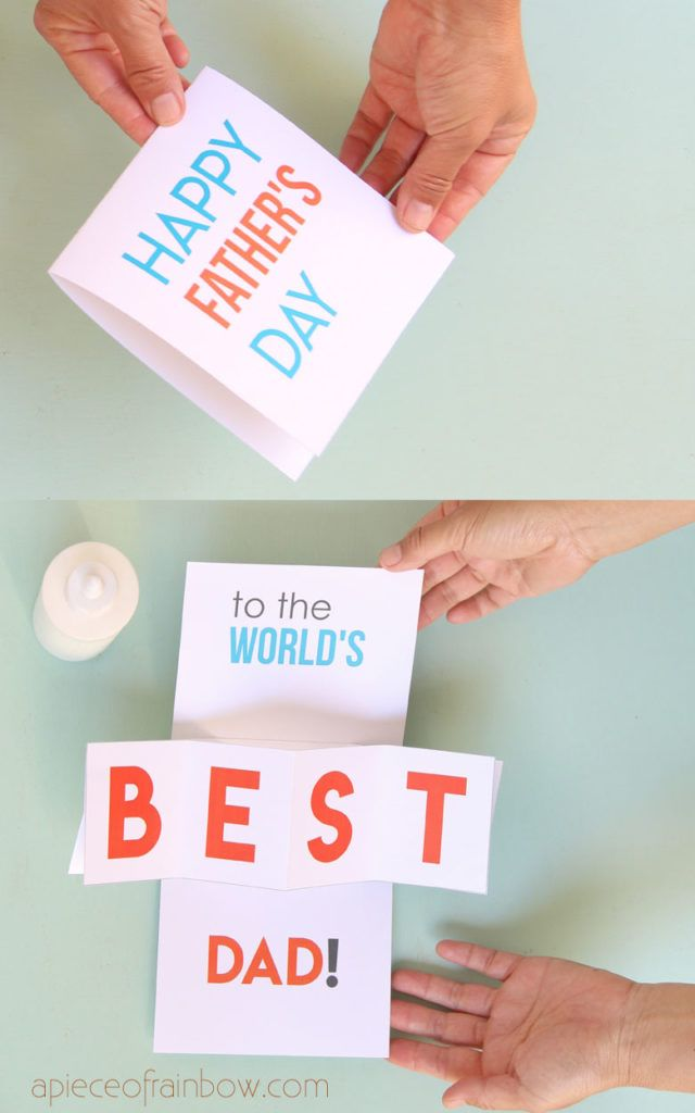 Easy Diy Pop Up Happy Father S Day Card Dad Birthday Card Love Pop Up Cards Pop Up Cards