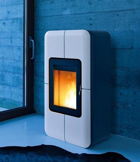 Eco friendly pellet stoves by mcz cube stove series - Stufe a pellet mcz idro ...