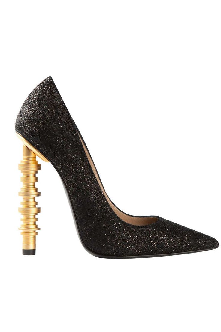 Stacked Gold Heels Fit for a Bank Vault -- The Cut | Julia Hart | cynthia reccord