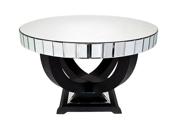 dining room art glass table mirrored set round where to buy base
