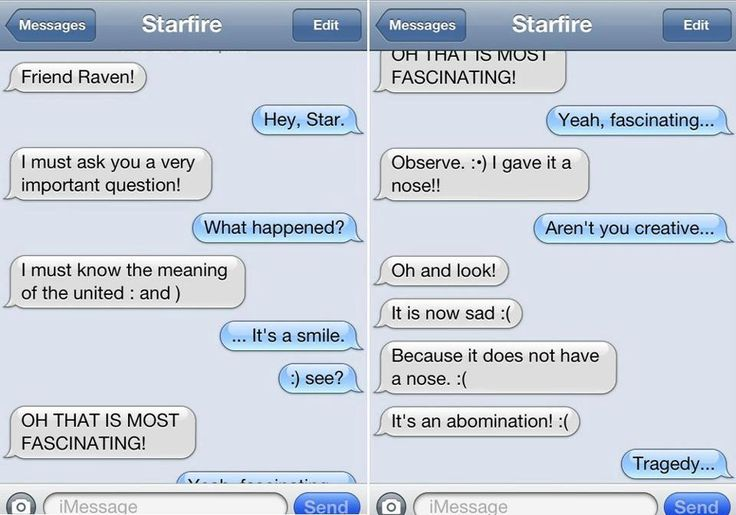 Poor a Robin. He loves Star too much to not reply to every text she is sure to send him with every possible emoticon!