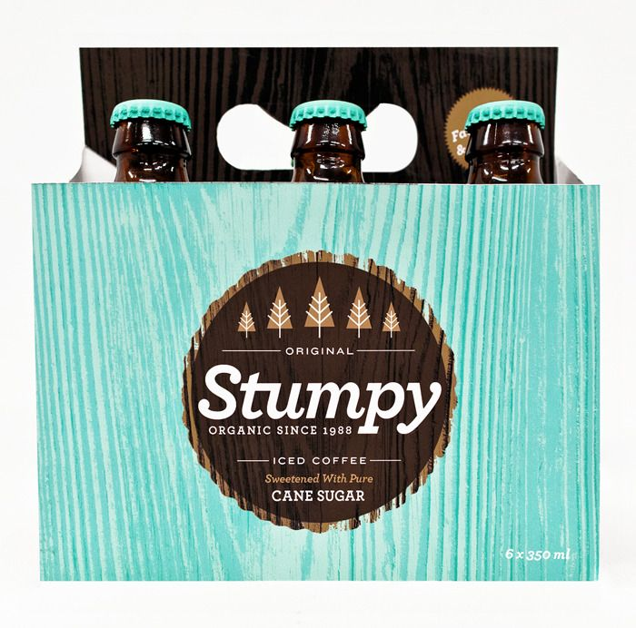 packagingAlex Westgate, Stumpy Packaging, Beer Packaging, Packaging Design, Ice Coffee, Iced Coffee, Bottle Design, Alex O'Loughlin, Stumpy Ice