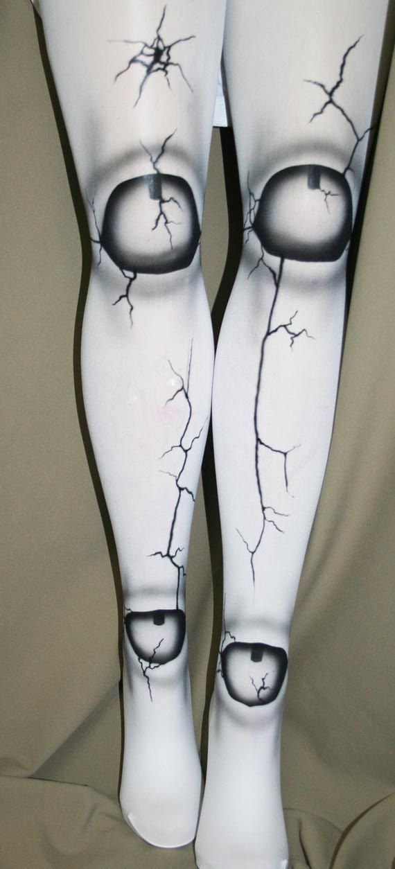 broken doll ball joint tights custom made for you by beadborg