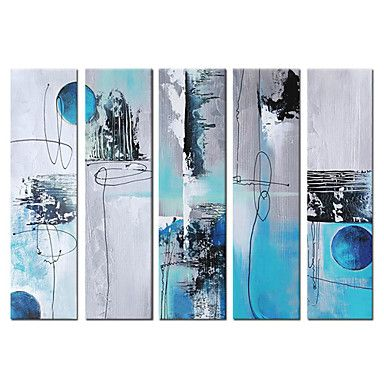 Abstract Oil Painting - Set of 5 - Free Shipping