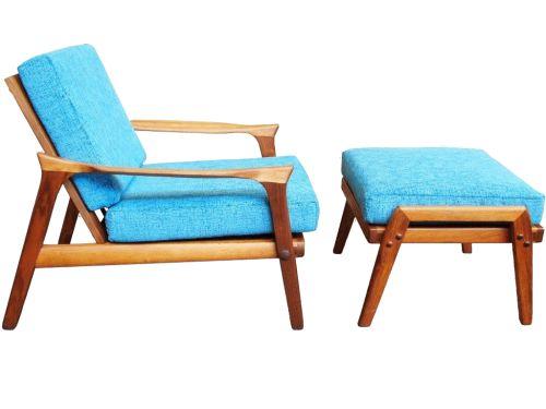 Danish Deluxe Inga chair & ottoman