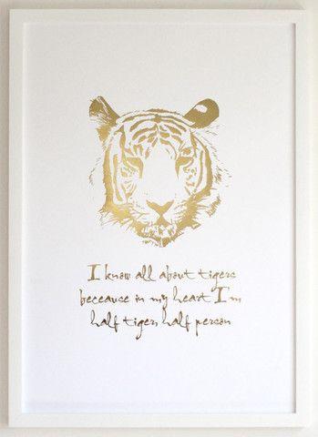 Tiger Print - Gold Foil