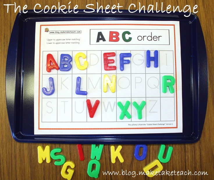 Free cookie sheet activities
