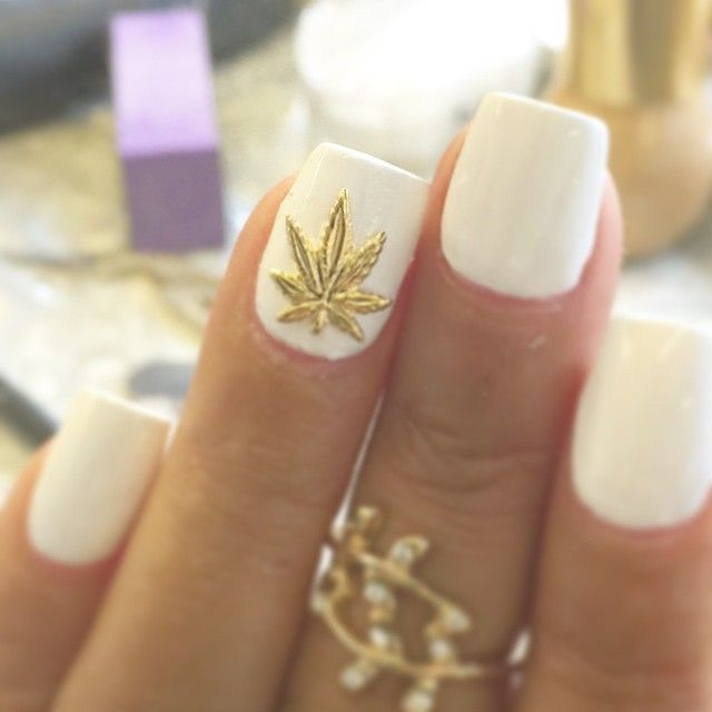 Weed inspired nail art. Visit lovetheherb.com for more! #nails #weednails…