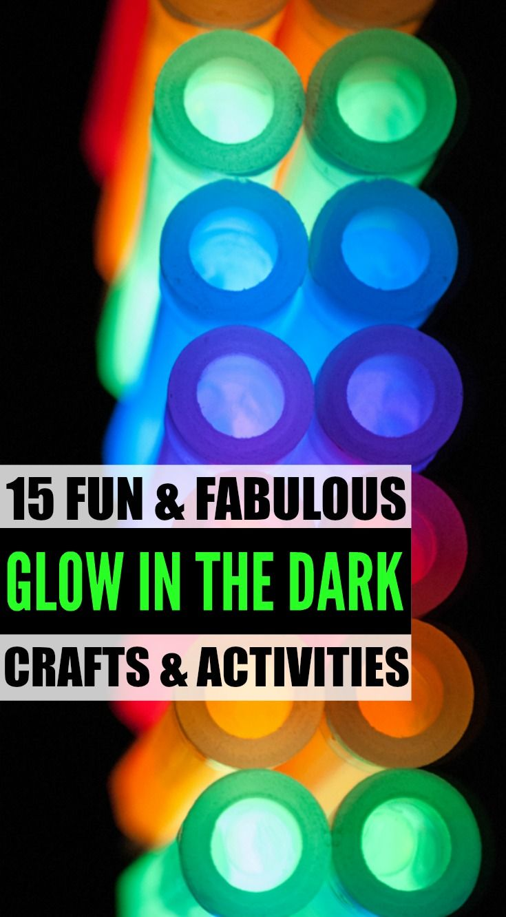 DIY Craft: Looking for cool and crazy glow in the dark crafts and activities for kids? Look no further. From an awesome glow in the dark ice and salt experiment to glow in the dark water balloons, we've got 15 easy DIY projects and ideas to keep you and your little ones entertained for hours. Who says the dark needs to be scary, anyway?!
