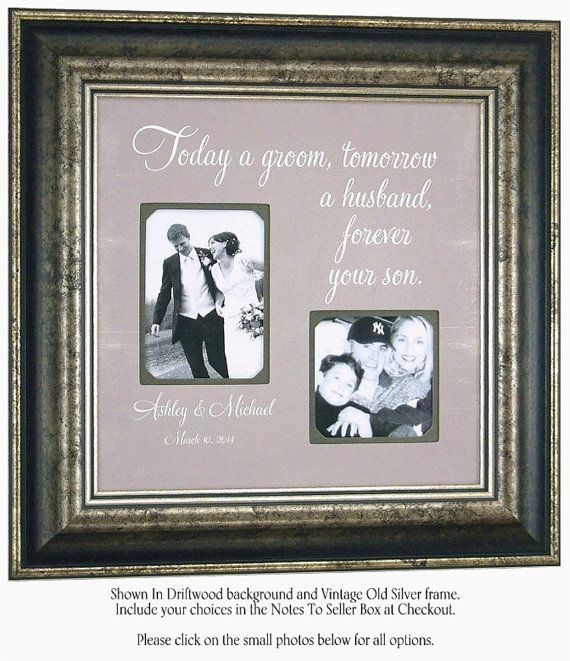 Wedding Gift for Parents of the Groom by PhotoFrameOriginals | See more about parent wedding gifts, groom wedding gifts and wedding gifts.