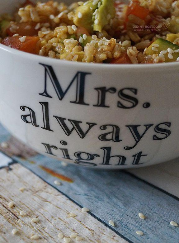 CherryFizz.nl – Loving family life » Koude rijstsalade, sushi style