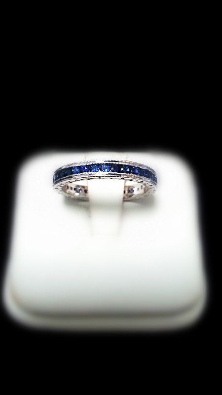 Blue Sapphire Eternity Band (Channel Set) - $727