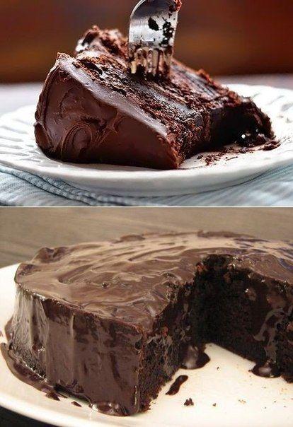 Шоколадний тортик без яєць