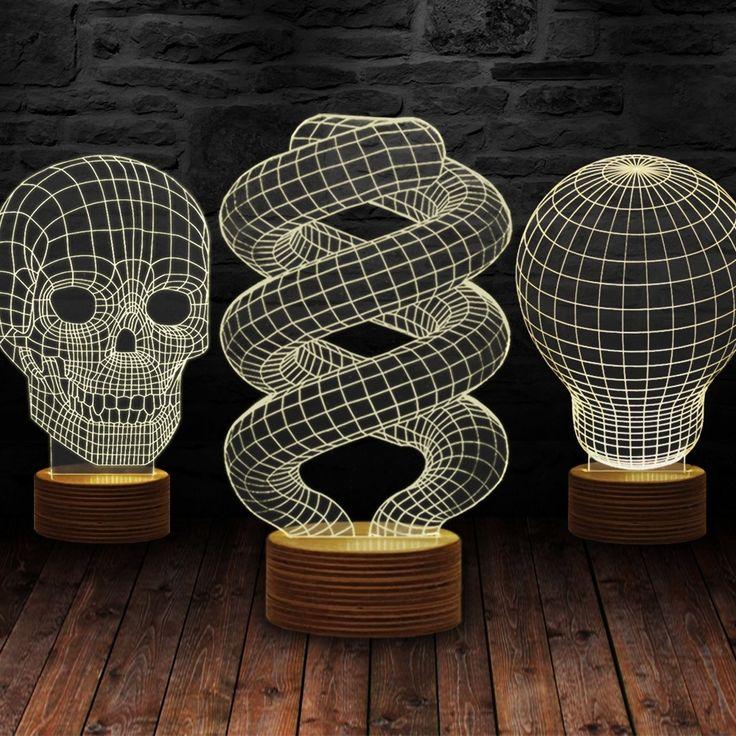 Iluzoryczna Lampa 3D Kolor
