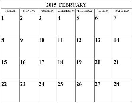 32 Best February 2015 Calendar Images On Pinterest Printable