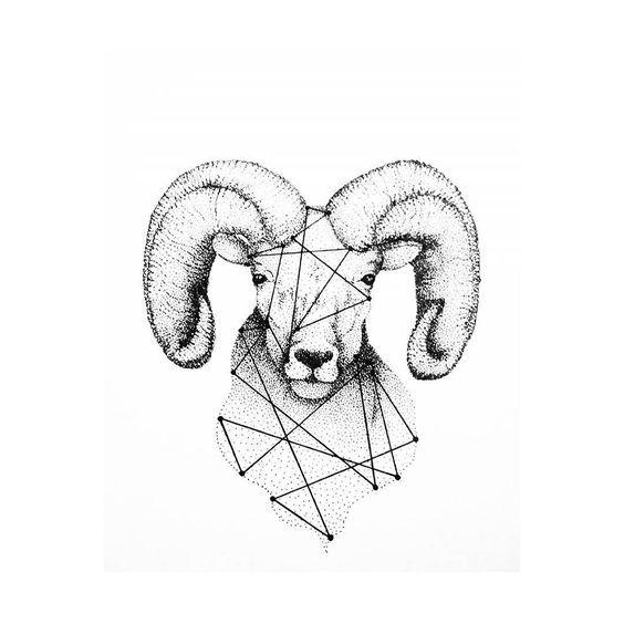 Картинки знака зодиака овен для тату