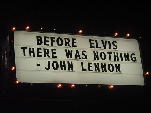 John Lennon Elvis #quote
