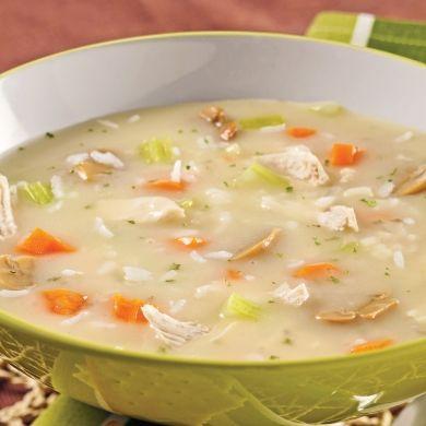 Soupe-repas crémeuse au poulet et riz - Recettes - Cuisine et nutrition - Pratico Pratique