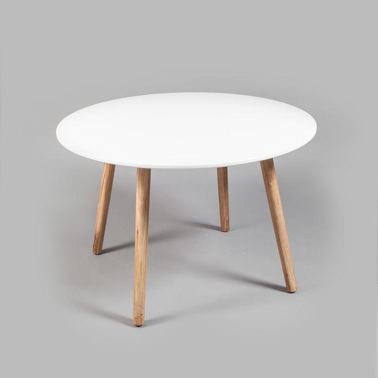 Ray matbord, hvit/eik i gruppen Møbler / Bord / Spisebord hos ROOM21.no (123999)