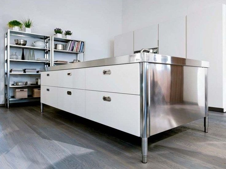 stainless steel kitchen unit with drawers isola cucina 280 by alpes inox