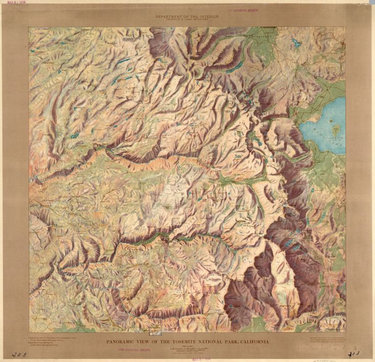 California Map Disney%0A Yosemite National Park Relief Map  California before      and before the  loss of Yosemite u    s Hetch Hetchy valley to a dam project in