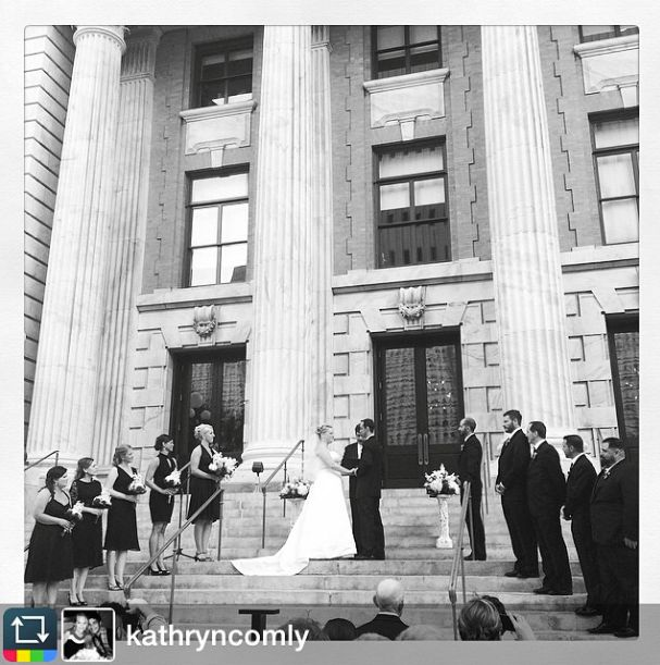 Le Merin Tampa Luxury Hotel Courthouse Entry Steps Bizou Brerie Wedding Ceremony