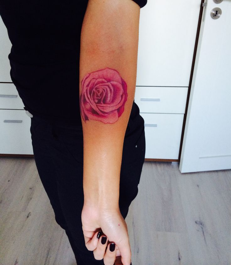 My tattoo pink rose