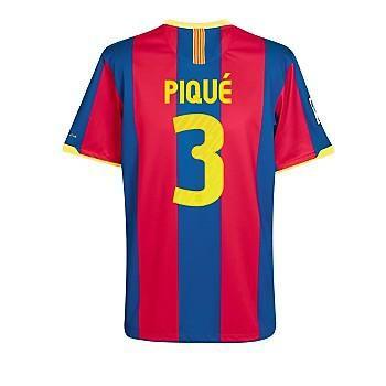 Tienda de 10-11 Barcelona #3 Pique Camiseta De Fútbol Local awa-Personalizar Botas de Futbol
