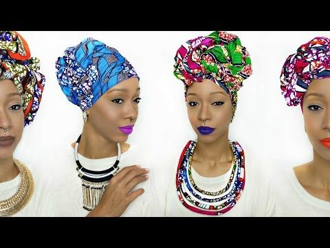 Head Wrap Tutorial | 5 Different Ankara Styles - YouTube