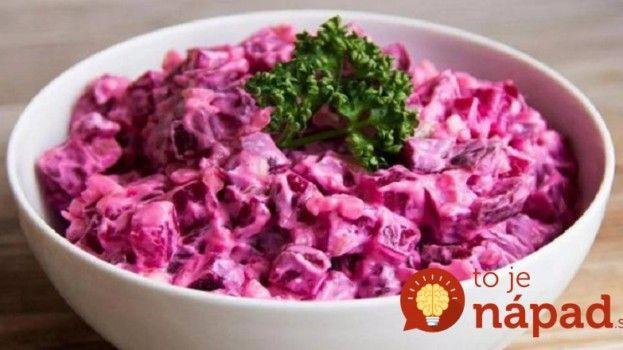Namiesto šalátu s majonézou: Ľahký šalát z červenej repy a zemiakov!