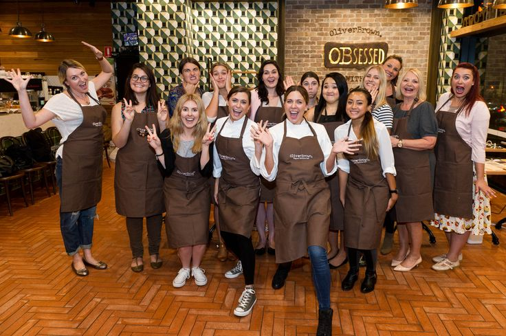 Oliver Brown Belgian Chocolate Cafe Chocolate Masterclass with Sammy & Bella of My Kitchen Rules!