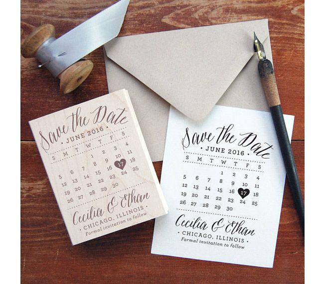 Save the Date calendar stamp