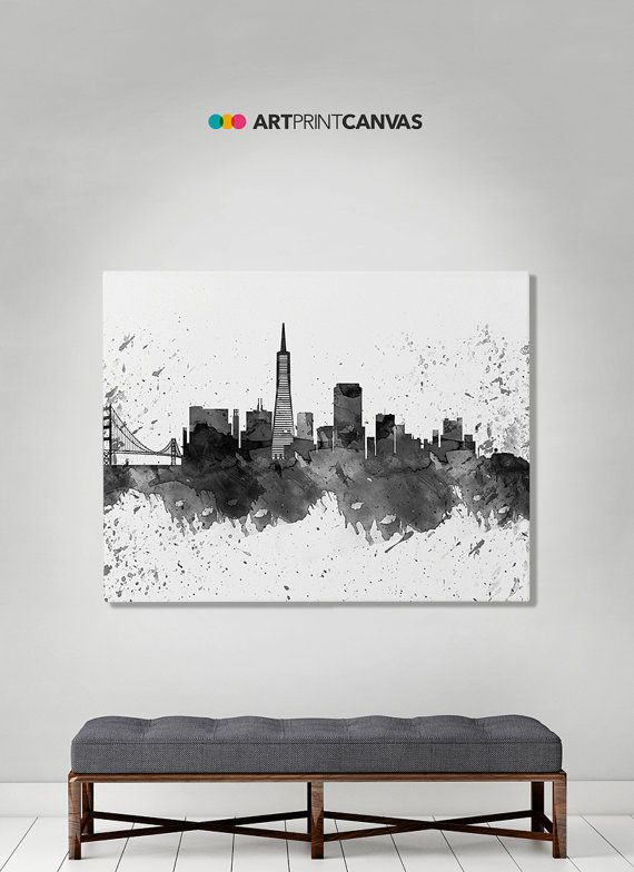San Francisco en toile art toile de skyline de par ArtPrintCanvas