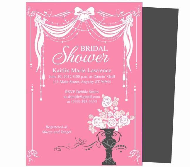 Bridal Shower Invitations Microsoft Word Bridal Shower Wedding Shower Invitations Bridal Shower Invitations Templates Bridal Shower Invitations Diy