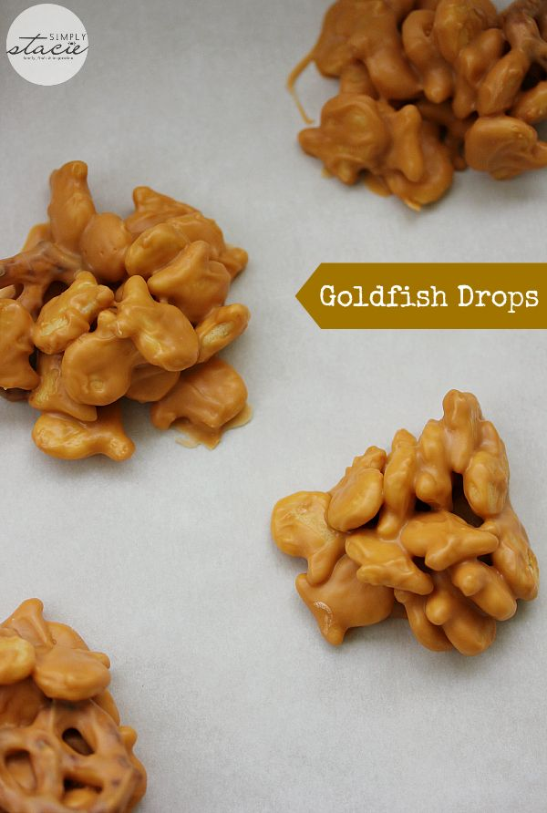 Goldfish Drops - Just four ingredient in this no-bake treat that kids love!