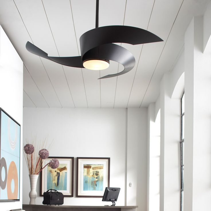 Modern and artistic ceiling fan with built in light by Fanimation