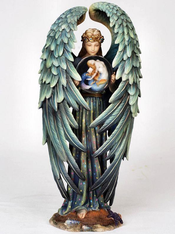 Sheila Wolk Art   Details about Sheila Wolk Art Kindred Spirit Angel Statue Figurine ...