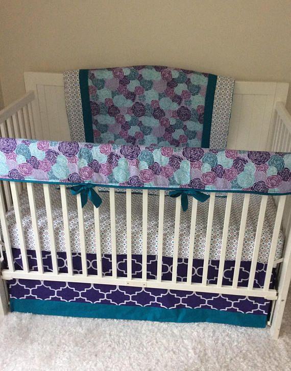 Baby Girl Crib Bedding Set Purple Teal Modern Floral Baby Girl Crib Bedding Sets Purple Baby Girl Crib Bedding Sets Round Crib Bedding
