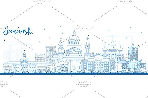 #Outline #Saransk #Russia #City #Skyline by Igor Sorokin on @creativemarket