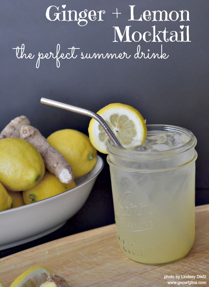 Ginger-Lemon Mocktail |This is the beverage that makes summer bearable for me. It's the drink I whip up in a matter of seconds when my armpits are soaked with sweat by 11:00 in the morning. It's my version of a bubbly, non-alcoholic cocktail that detoxifies, invigorates, and allows you to pretend for a few precious moments that you're lying in a hammock on a white sand beach in Fiji... | GNOWFGLINS.com