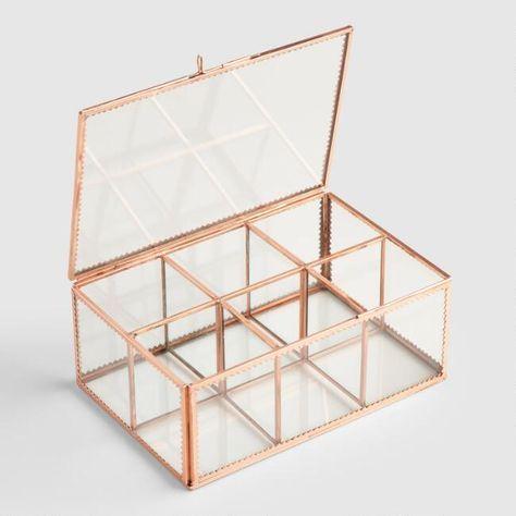 Copper Glass Tea Storage Box - v2