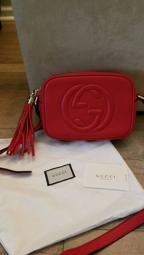 03dc75733040 Gucci soho disco small size authentic red cross body bag | See more  Authentic Red Gucci Soho Disco Cross Body Bag | Pinterest | Gucci soho disco,  ...