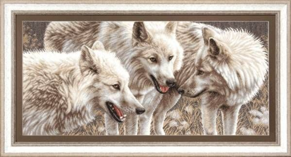 Набор для вышивания Чаривна Мить М-126 Белые волки