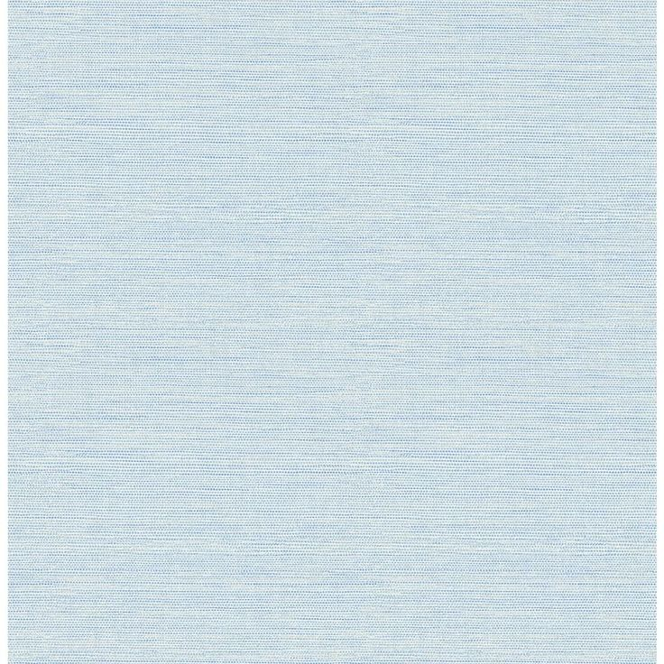 Chesapeake 8 in. x 10 in. Agave Sky Blue Faux Grasscloth