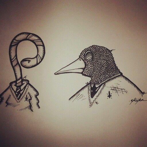 Gussano & bird by akira ohtomo